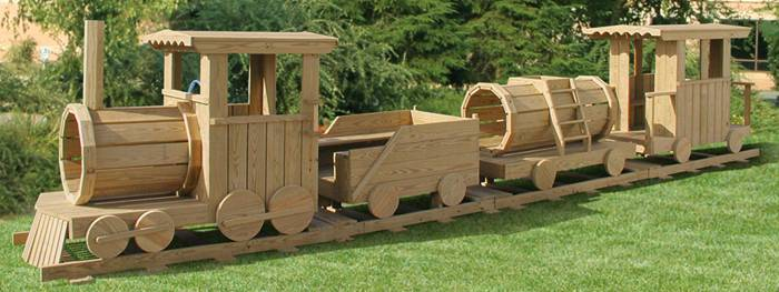wooden train playhouse plans